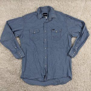 Wrangler Denim Pearl Snap Shirt Men XLT Tall A20